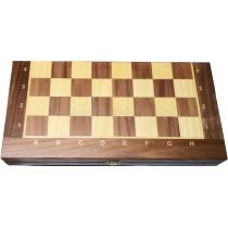 Доска складная деревянная турнирная шахматная Баталия 36