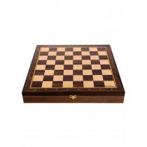 Доска-ларец цельная деревянная шахматная Баталия 37 см (без фигур)