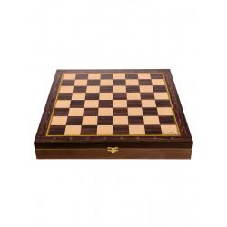 Доска-ларец цельная деревянная шахматная Баталия 37 см ( без фигур)