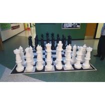 Напольные гигантские шахматы 90 с доской (винил)