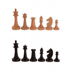Фигуры деревянные шахматные Баталия №7 с утяжелителем