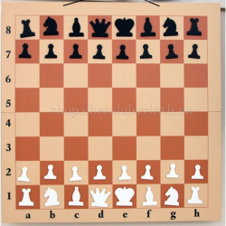 Складная настенная демонстрационная шахматная доска82см