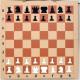 Настенные демонстрационные шахматы Цвет демо Коричневая