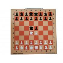 Шахматная демонстрационная доска Гроссмейстер 90 бежевая