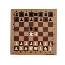 Шахматная демонстрационная доска Гроссмейстер 90 коричневая