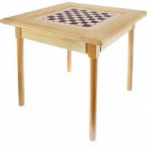 Стол шахматный светлый без фигур (простые ножки)