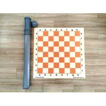Шахматная демонстрационная доска для школ (в тубусе) 80 см