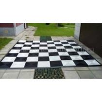 Поле шахматное пластиковое большое 3,3х3,3 м  с обрамлением
