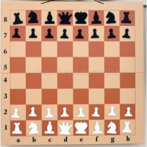 Складная настенная демонстрационная шахматная доска 90см