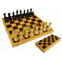 Шахматы Айвенго обиходные (пластик) с шахматной доской (пластик) 30 см