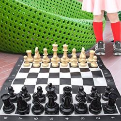 Напольные мини шахматы 21 Бежевые