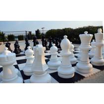 Напольные шахматные фигуры 63 с доской (пластик)