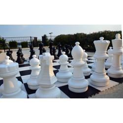Напольные большие шахматы 61 с доской (винил)