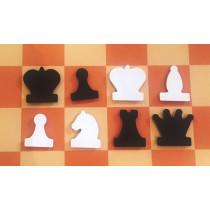 Фигуры к шахматной демонстрационной доске 60-80 см магнитные
