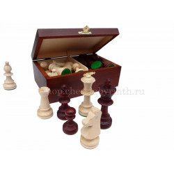 Шахматные фигуры Стаунтон N4 в деревянном ларце